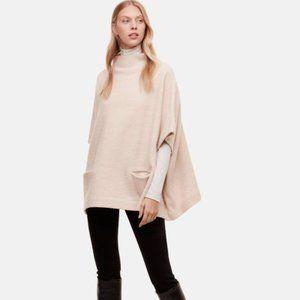 Aritzia Babaton Touraine ivory merino wool cape